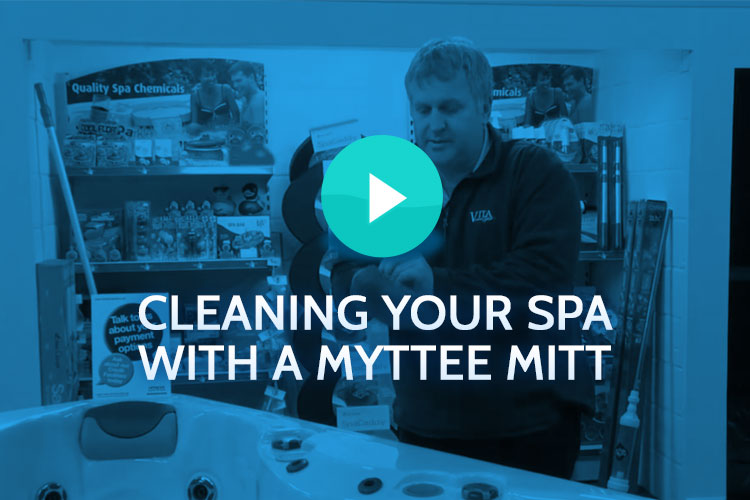 Cleaning your Spa with a Mytee Mitt